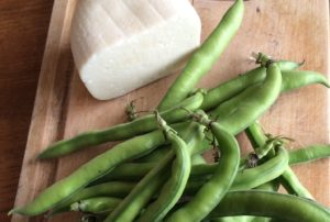 A Spring Dish Fava Beans and Pecorino
